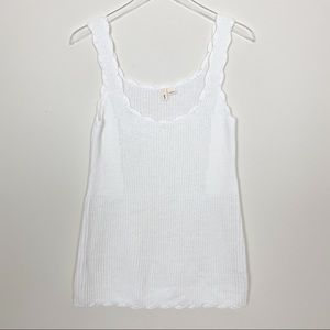Anthropologie MOTH white sweater tank top